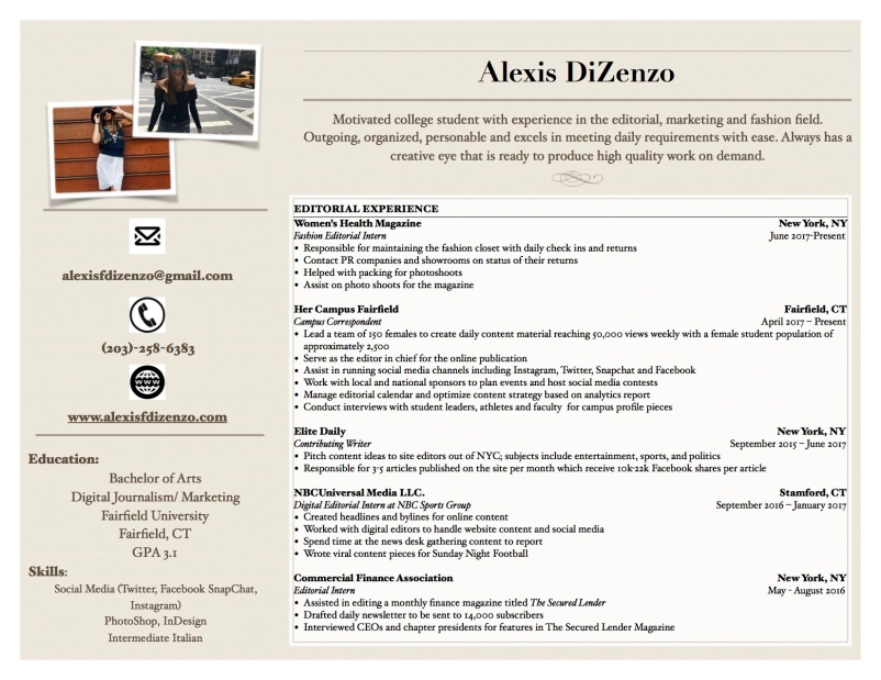 Graphic Resume for Site